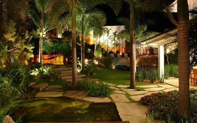 Jardim iluminado  Jardinagem  iG