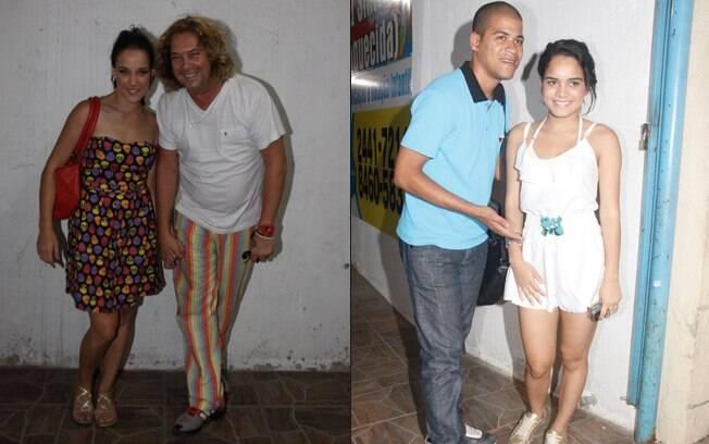Adriana Birolli e Carol Macedo com amigos