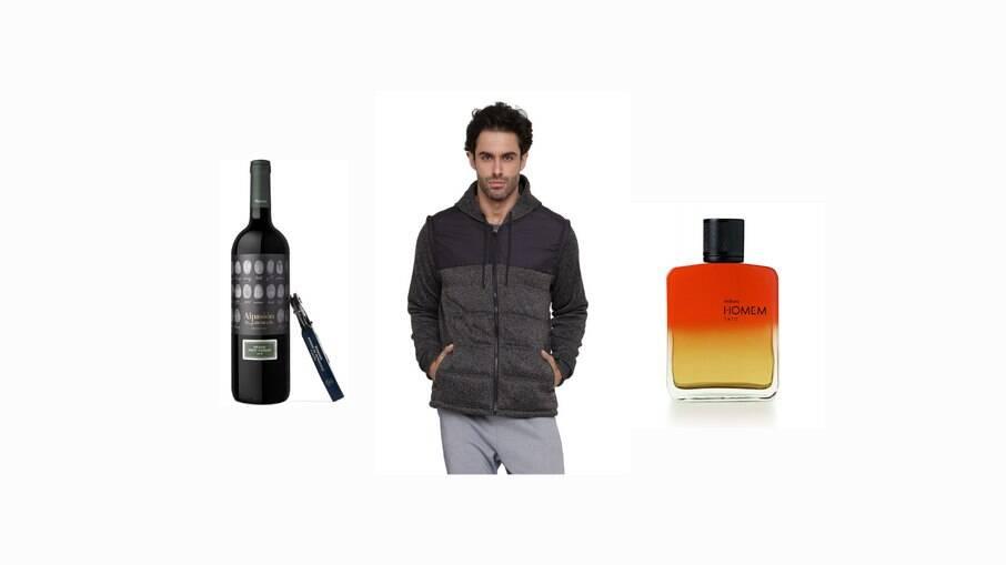 Vinho, casaco e perfume
