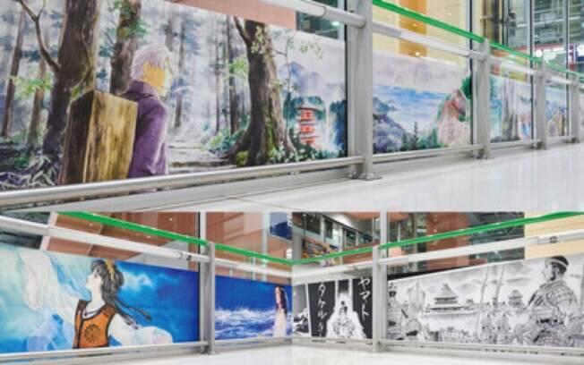 Oito obras de artistas de mangá estarão expostas no aeroporto de Kansai a partir de 20 de março