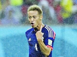Honda é um dos jogadores mais experientes da seleção japonesa