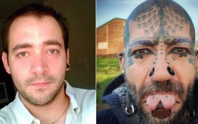 Paul Matthew antes e depois da transformação