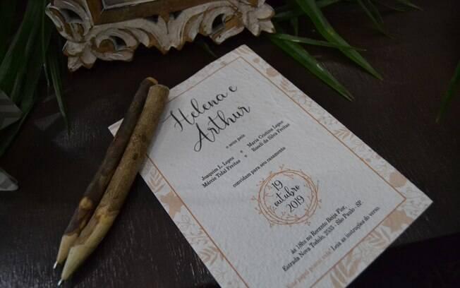 Os convites para a festa de casamento podem ser plantados e se transformar em flores ou hortaliças