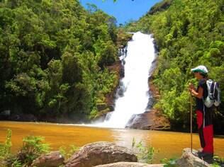 Cachoeira de Santo Izidro, no Parque Nacional da Bocaina, em São José do Barreiro