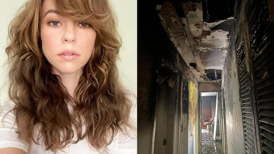 Casa de Paolla Oliveira pega fogo