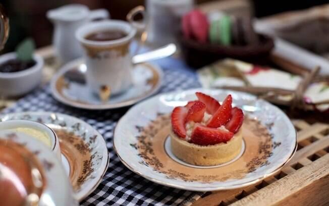 Foto da receita Torta de morango pronta.