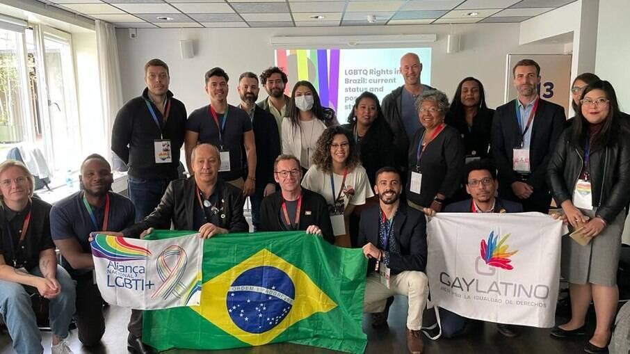 Ativistas brasileiros e representantes de instituições internacionais de Direitos Humanos