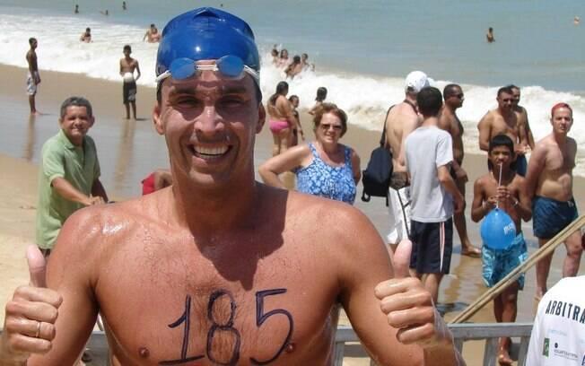 Luiz Lima trocou a piscina pelo mar, competiu na maratona em Pequim 2008 e hoje participa de provas amadoras ou travessias