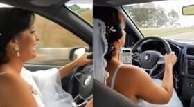 Noiva grávida dirige até o próprio casamento no Distrito Federal