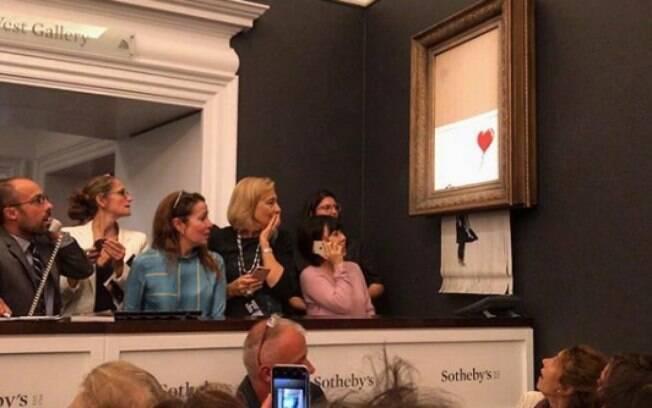 Obra de Banksy se desfaz