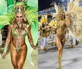Rainha do Peruche, sósia de Juju Salimeni, usa fantasia igual a dela