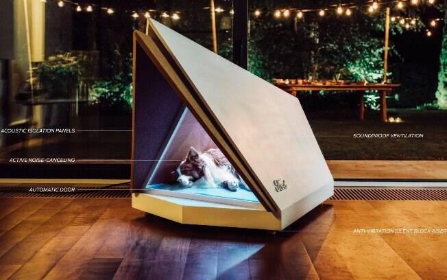 Casinha para cachorros traz tecnologias que fazem um balanço acústico do ambiente, um alívio para os ouvidos caninos