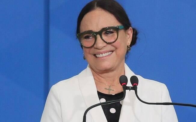 Regina Duarte foi criticada por erro em postagem feita nas redes sociais
