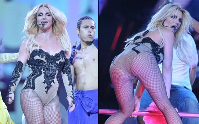 Britney Spears durante seu show em Detroit, nos Estados Unidos