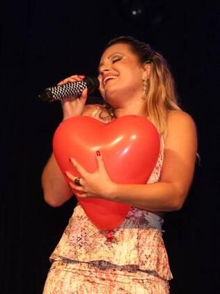 Natália Sarraff durante o show