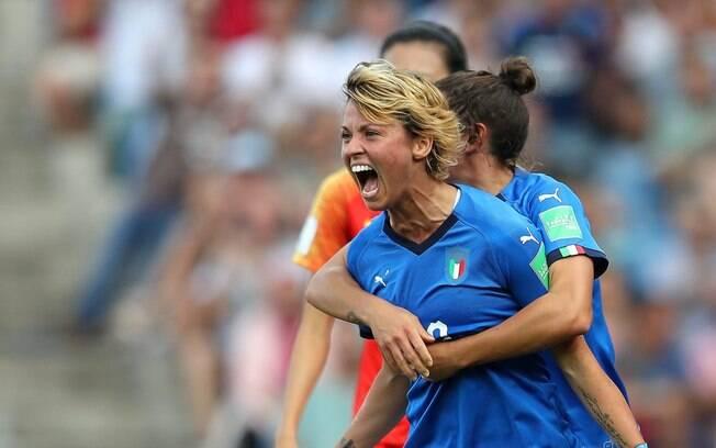 Giacinti marcou o primeiro gol da Itália na partida contra a China
