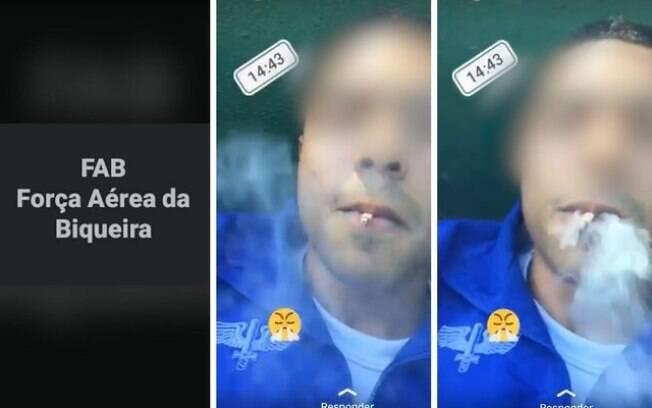 Soldado grava vídeo caçoando da FAB e fumando cigarro; segundo a Aeronáutica, fumo é de palha, não de maconha