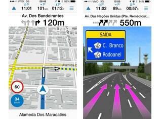 Víago é um aplicativo de GPS para Android e iOS da Garmin, líder em navegação por satélite. Custa US$ 1,99, cerca de R$ 5