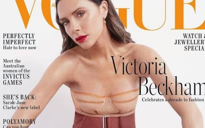 Internautas confundiram a blusa de Victoria Beckham com cicatrizes de mastectomia, cirurgia para retirada dos seios