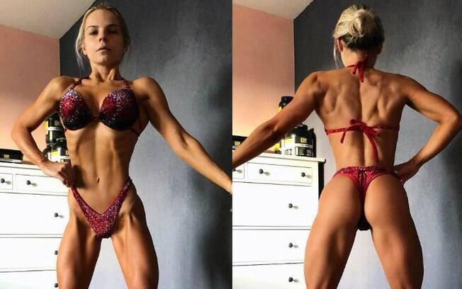 Rebeka desenvolveu anorexia na adolescência, mas conseguiu vencer o distúrbio alimentar e se tornar fisiculturista