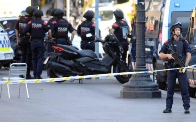 Barcelona sofre com ataque terrorista nesta quinta-feira. Foto: Josep Lago/AFP