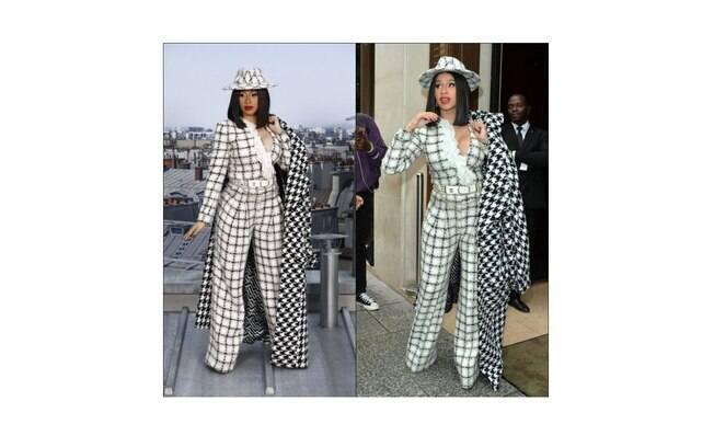 Cardi B veste Chanel para desfile da marca na Paris Fashion Week 2019