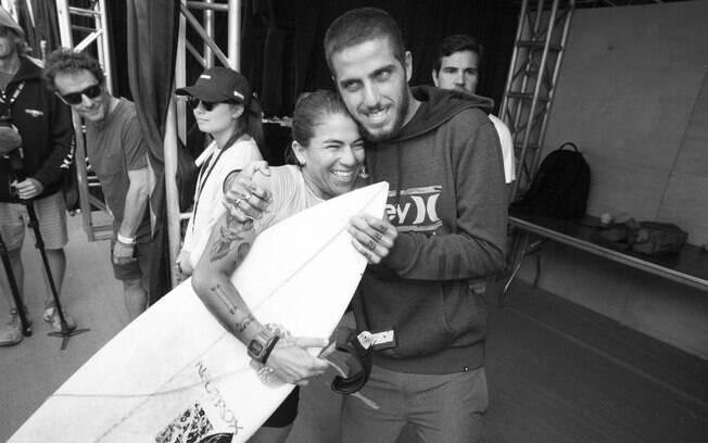 Silvana Lima e Filipe Toledo fizeram dobradinha brasileira e foram campeões em Trestles