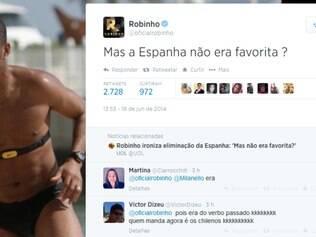 Atacante brasileiro Robinho usou o seu twitter para alfinetar LaRoja