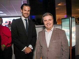 O presidente da Band Minas, José Saad Duailibi, com o senador eleito Antônio Anastasia