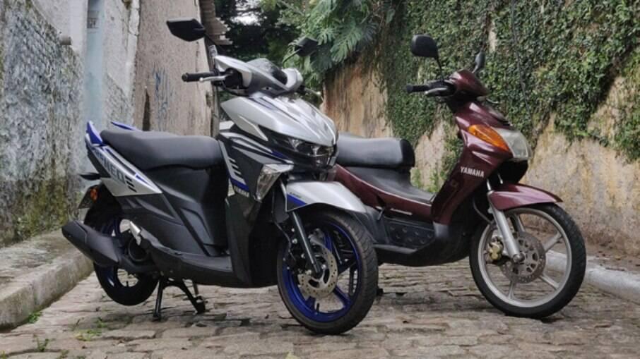 O Yamaha Neo 2021 ao lado do meu bom e velho Neo 2006
