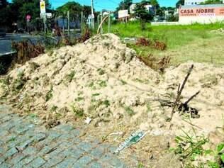 Flagrante. A reportagem de O TEMPO localizou parte dos resíduos no bairro Santa Terezinha