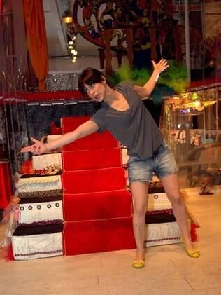 Mel Lisboa no cenário: aulas de sapateado antes do espetáculo