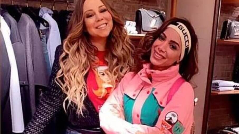 Anitta e Mariah se encontraram em Aspen