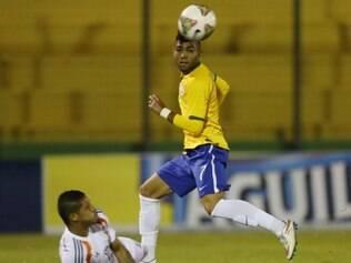 Gabriel, do Santos, foi o autor do segundo gol brasileiro