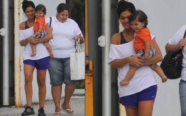 Juliana Paes com o filho, Pedro