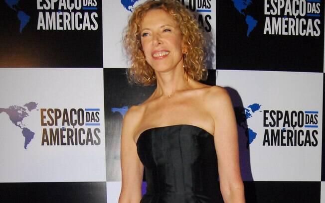 Marília Gabriela no show de Roberto Carlos