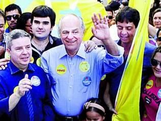 Pimenta esteve em Paracatu sábado e ontem gravou programa de TV