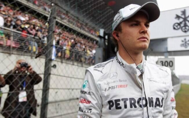 Mercedes - Nico Rosberg - venceu o GP da  China no ano passado, mas passou a temporada como  coadjuvante