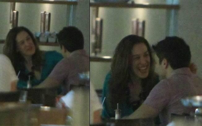 Claudia Raia e Jarbas Homem de Mello jantam em um restaurante em Ipanema, no Rio, nessa quinta-feira (12)