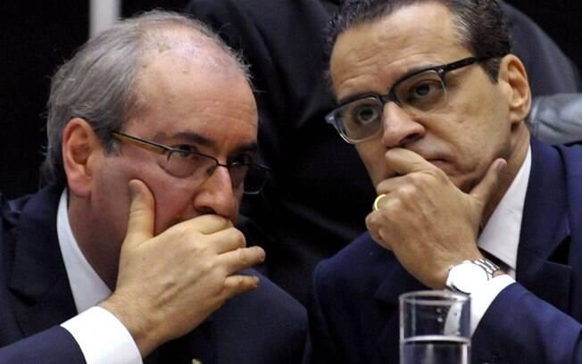 Ex-presidentes da Câmara Eduardo Cunha e Henrique Eduardo Alves, ambos do MDB