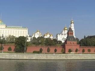 Vista das muralhas de 2.235 km do Kremlin