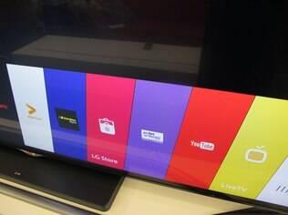 Barra é área de trabalho das TVs com WebOS