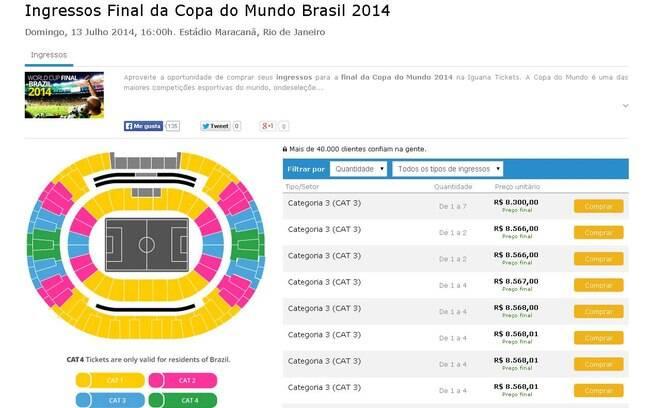 d95de65a01 Iguana Tickets oferece ingressos de todas as categorias para a final da  Copa. Foto