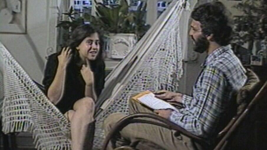 Entrevista de Fernanda Torres a Pedro Bial no Jornal Hoje (TV Globo) em 1983