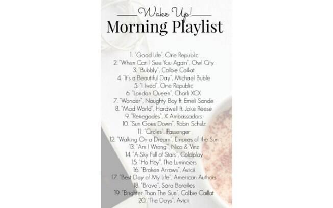 Escolha uma música para se animar e aperte o play! Para começar o dia com o pé direito, é importante ter uma playlist