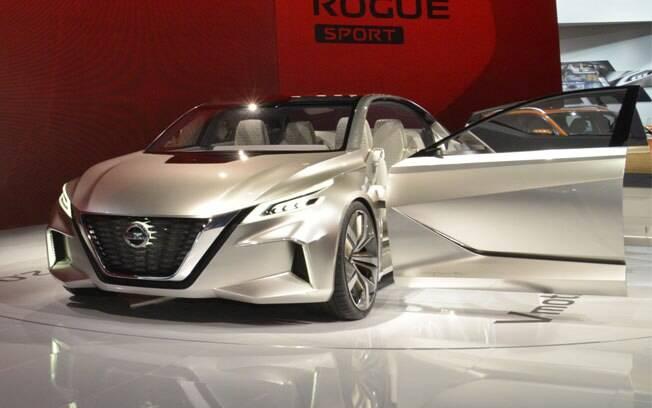 O Nissan Vmotion 2.0 mostra a evolução da identidade de design e que será adaptada para os próximos carros da fabricante.