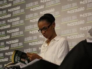 Marina Silva participa de entrevista do jornal