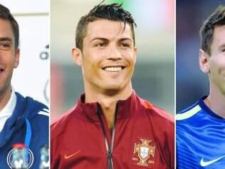No Brasil. Neuer, Cristiano Ronaldo e Messi jogaram na última Copa do Mundo, com destaque para o goleiro alemão, que foi campeão