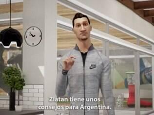 Ibra dá conselhos aos argentinos, assobia a música e diz que é melhor cantar com a taça