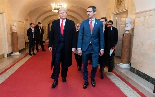 Juan Guaidó se encontrou com Donald Trump na última quarta-feira